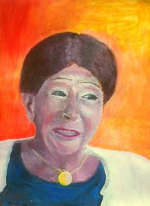 A.W. Eskens-Bakkenes geschilderd door Erno Eskens