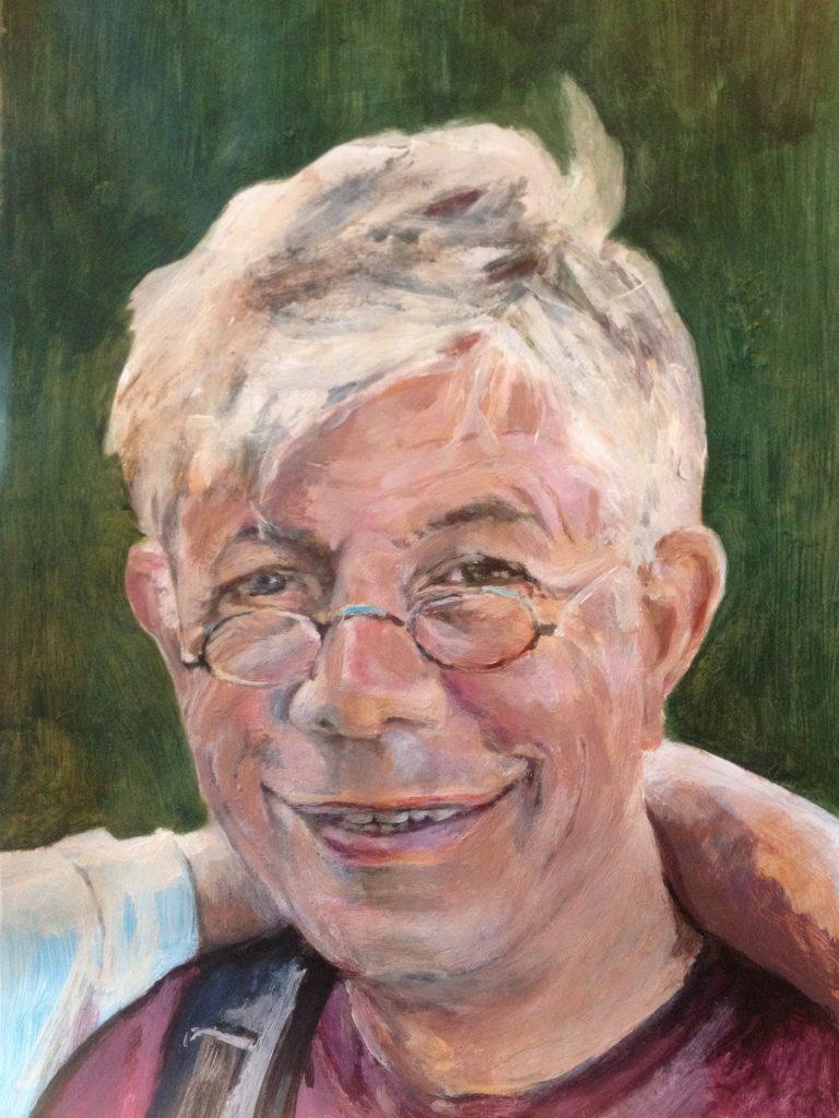 Erno Eskens geschilderd door Anet Schraag